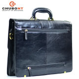"Chubont High Qualilty Cow Leather Mens 15 ""Business Briefcase"