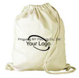 Выдвиженческий органический мешок хлопка Backpack мешка Drawstring хлопка