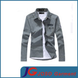 Slim casuale Long Sleeve Denim Shirt per Men (JC7044)