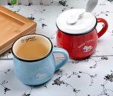 Tazza del latte dello smalto di Zakka del nuovo prodotto/tazza di caffè di ceramica dello smalto