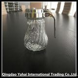 500ml de diagonale Kruik van de Opslag van het Glas van het Patroon met Deksel