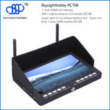 Fatshark、Immersion RC RC708の5.8g 40CH 7 Inches TFT LCD Color MonitorおよびDiversity Rx Compatible
