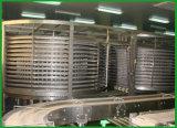 Refroidisseur d'air debout d'étage d'acier inoxydable de constructeur, tour de refroidissement spiralée de pain grillé d'hamburger de pain