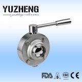 Usine sanitaire de vanne papillon d'acier inoxydable de Yuzheng