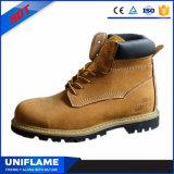 De halve Laarzen van de Veiligheid van het Werk van het Leer van Goodyear van de Besnoeiing