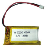 3.7V Rechargeable Polymer Lithium Battery para auriculares de Bluetooth
