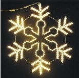 Flocon de neige extérieur d'éclairage de la décoration DEL