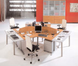 Frosted Glass (SZ-WST615)の3人Wooden Office Workstation