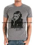 Concevoir le T-shirt gris d'hommes d'été chaud de vente de mode d'impression d'écran