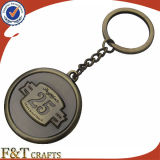 Type neuf en bloc bon marché trousseau de clés de reproduction en métal de cadeaux de course (FTKC1762A)