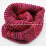 Warp способа Acrylic 100% голубым & белым связанный шарф шеи