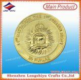 Выдвиженческая персонализированная выгравированная золотом монетка сувенира с дешевым ценой