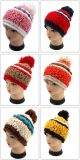 Beanie Pompom шлема шерстей Knit руки Chuncky связанный шлемом