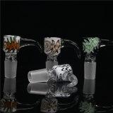 Tazones de fuente de tubo de cristal coloridos que fuman los tazones de fuente de tubo de los tazones de fuente al por mayor con el tazón de fuente de cristal común masculino Bw-026 de 14.4m m y de 18.8m m