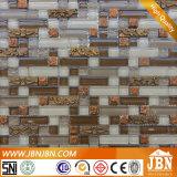 Mosaico do aço inoxidável e do vidro da parede da tevê da sala de visitas (M855090)
