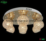 Indicatore luminoso a cristallo di cristallo del lampadario a bracci di illuminazione di soffitto LED con 6 paralumi