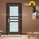 Modern Interior PVC Door MDF-Laminate mit Glass beenden