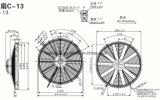 Вентилятор Spal Va18-Bp10/C-41A конденсатора шины A/C, Va18-Bp51/C-41A