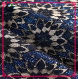 Tessuto di nylon Doubai del vestito da sera del merletto del cotone