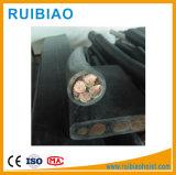 Fio de aço do cabo subterrâneo/tipo cabo distribuidor de corrente de cobre blindado da grua da construção