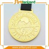 Customierのリボンが付いている顧客デザイン記念品メダル