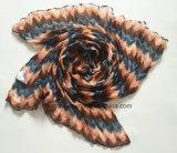 Sarong della piega delle donne dell'onda del poliestere naturale di disegno/sciarpa lunghi (HWBPS046)