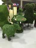 Artifício Topiary Grass Garden Animals Figurine Artificial Plant Sculpture