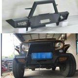 Butoir de butoir tous terrains avant noir en acier de balai pour le Wrangler Jk et Jk illimité 2007+ de jeep