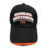 Chapeau noir de Hip Hop avec 3D orange Embroiderey (JRE111)