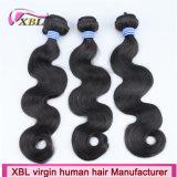 インドのバージンの毛ボディ波自然なカラー自然な人間の毛髪