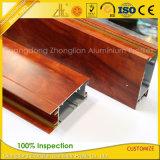 Impresión capítulo de madera de aluminio para ventanas y puertas correderas