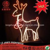 Luz de néon do motivo do cabo flexível da rena branca do diodo emissor de luz para a decoração interna e ao ar livre da rua do Natal