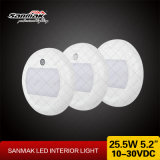 Indicatore luminoso di soffitto montato superficie rotonda del camion LED del caravan della lampada del soffitto