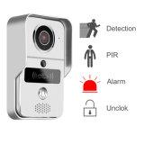 Alarme neuve de Decetion de mouvement de vision nocturne de coupure de 2016 IR, sonnette intelligente de WiFi bidirectionnel simultané d'intercom