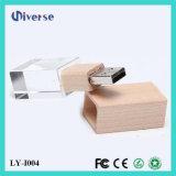Привод вспышки USB кристалла 4GB 8GB 16GB 32GB металла OEM выдвиженческого подарка дешевый навальный с светом 2.0 СИД диск 3.0 памятей