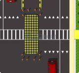 Schwarze u. gelbe Gummiverkehrs-Fußgängerübergang-Insel