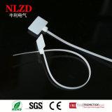 Nylon связи кабеля отметки PA66 с ярлыком