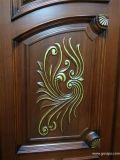 Puerta externa de la entrada del doble costoso de madera sólida (GSP1-020)