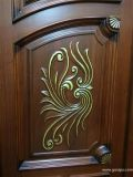 Puerta externa de madera costosa de lujo de madera sólida de la puerta de entrada (GSP1-020)