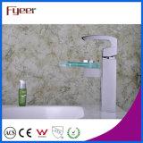 Кран смесителя Wasserhahn воды раковины Faucet тазика Spout Вентилятор-Формы Fyeer покрынный кромом стеклянный