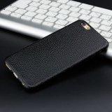Caixa protetora do telefone do escudo da grão macia ultra fina do Litchi de TPU