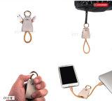 Accessori di cuoio del telefono di Keychain del cavo del telefono mobile dell'anello chiave