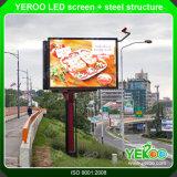 Structure de panneau-réclame d'écran de la publicité extérieure Digital DEL