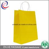Packpapier-Beutel Qualitätbrown-Mit flachem Griff-Großverkauf