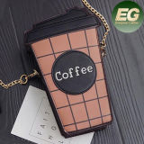중국 Sy8118에서 Gril 부피 구매를 가진 형식 커피 PU 핸드백 충돌 적중 색깔 어깨에 매는 가방