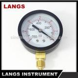 calibrador de presión de acero negro del vacío de 63m m