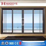 Puerta deslizante de cristal del marco de aluminio europeo del estilo
