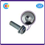 Гальванизированные нержавеющей сталью винты комбинации плоской пусковой площадки головки лотка Cinquefoil для электрического/электронного/машинного оборудования