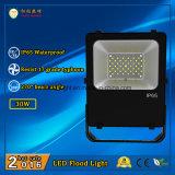LED IP65 exterior de inundación 30W de iluminación de Philips con LEDs y Meanwell fuente de alimentación