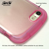 Caja del teléfono celular del efecto TPU del color del gradiente de la sensación de la mano de la dimensión de una variable de la muñeca buena para el iPhone 7